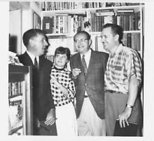 8x10 B&W reprint 1960s photo of FORREST J ACKERMAN, RAY BRADBURY & ROBERT BLOCH.