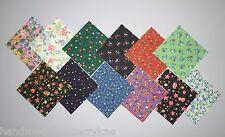 "Calico Prints Floral Charm Pack Quilt Fabric 120 pieces -  2.5"" squares"