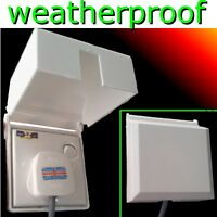 Weatherproof 1 GANG Single Switch Socket Cover Dust Wet Protector WHITE plastic