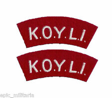 KOYLI King's Own Yorkshire Light Infantry - WW2 Repro Shoulder Titles Patch Army