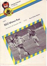 Stadion-/Programmheft 1. FC LOK Leipzig - BSG Wismut Aue 1983 (DDR Oberliga)