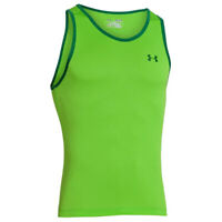 Under Armour UA Tech Graphic Tank Vest Green Sports Gym Fitness Sleeveless Top L