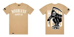 Hourless Tee (T-Shirt) Mens S M L XL XXL XXXL TAN Tattoo Afends Vans RVCA