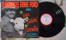 "Tennessee Ernie Ford Sings Pea Pickin' Parodies 12"" EP U.S. Army PSA 1967 RARE"