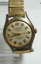 Vintage CONTINENTAL GENEVA Mens Automatic Watch Gold Filled Band - as is