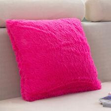 Fluffy Fur Plush Square Throw Waist Pillow Case Sofa Home Decor Cushion Cover US