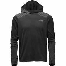 The North Face Men's ANY DISTANCE Wicking Running Hoodie Top Black Reflective M