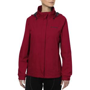 Vaude Women's Escape Bike Light Rain Jacket - Red