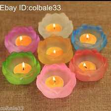 7pcs Lotus Butter lamps holder candlestick Temple shrine worship Artifact lucky