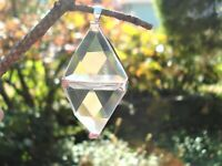 LARGE DOUBLE Vogel Clear Quartz Triangle Pendant-Super Clarity! Super Energy!