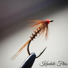 Hothead Pheasant Tail Cruncher size 14 (Set of 3) Fly Fishing Flies buzzers