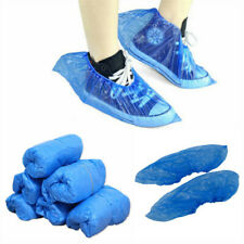 100pcs Disposable Shoe Cover Plastic Waterproof Cleaning Overshoes Boots Safety