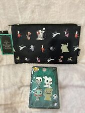 Disney Nightmare Before Christmas Cosmetic Bag By Loungefly And Pins Nwt