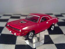 1970 PLYMOUTH HEMI CUDA Shaker Hood T-JET RED  HO SLOT CAR CUSTOM WHEELS