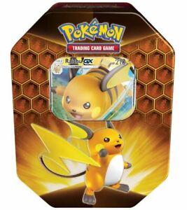 Pokemon Hidden Fates Tin Raichu GX - Englisch / Verborgenes Schicksal NEU & OVP