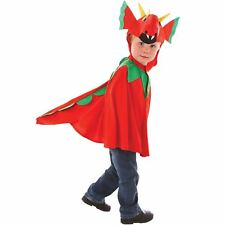 Boys 3-7 Years Red Dragon Cape Costume Welsh Fancy Dress Kids Book Week Outfit