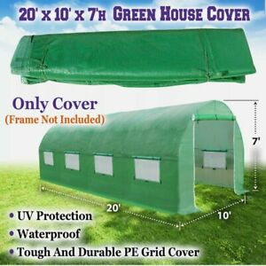 20'X10'X7' GH052 Greenhouse Replacement Part Cover (ONLY COVER)