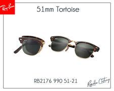 Ray-Ban Sunglasses  Folding Clubmaster Shinny Tortoise RB 2176 901 G-15 51