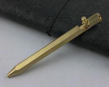 Self Defense Tactical Pen Handmade Copper Brass Pen Six-Side Casing 13cm