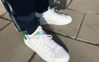Adidas Originals Men's Stan Smith OG Shoes Authentic White/Green Sz 8 EUC