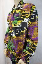 Homme VINTAGE 70 s Style Disco Fresh Prince Crazy Psychédélique Shirt Festival Retro XL