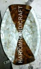 "New listing 12""x15"" Marble Washbasin Amazing Sea Shell Stones Inlay Work Handmade Deco E1131"