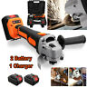 18V Brushless Cordless Angle Grinder Cut off Tool + 2 Battery + Charger UK Kit