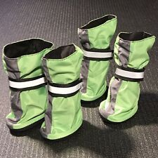 Top Paw Med Green Dog Boots - Reflective Hook & Loop, Polyester, TPR Rubber Sole