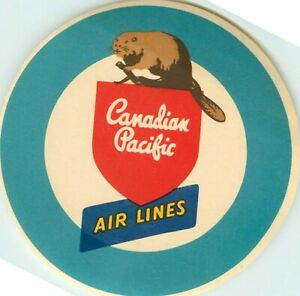 CANADIAN PACIFIC ~CANADA~ Great Airline Luggage Label, c. 1955  MINT CONDITION