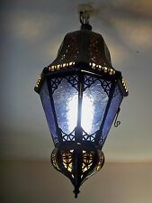 Kronleuchter Marokkanisch schmiedeeisen lampe laterne deckenleuchte leuchte blau