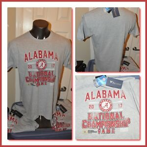 2017 National Championship Alabama Crimson Tide Game S/S T Shirt Mens Large NWT
