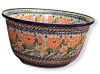 """Unikat XL 12.75"""" Bowl Polish Pottery Ceramika Artystyczna by Teresa Andrukiewicz"""