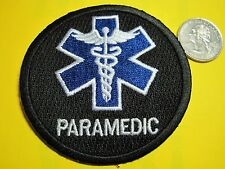 PARAMEDIC PATCH STAR OF LIFE FIRST RESPONDER BLACK TACTICAL PATCH CIRCLE LOOK!*
