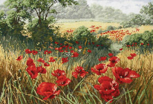 A Host of Poppies Cross Stitch Kit by Anchor