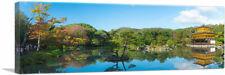 ARTCANVAS Pano, Temple in Japan, Gorgeous Lake Panoramic Canvas Art Print