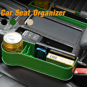 ABS Car Seat Organizer w/Cup Holder Seat Console Side Pocket Storage Filler