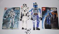 Lego Technic Star Wars Storm Trooper #8008 Jango Fett #8011 Manuals Toys AS IS