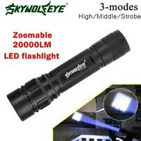 Mini 20000LM Zoomable T6 LED Flashlight Torch Outdoor Travel Aluminum Light Lamp