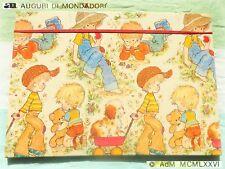 🐌 SARAH KAY Vintage ANNI SETTANTA MAXI cartellina elastico elastic FOLDER 1976