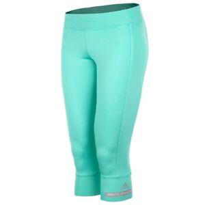 Adidas Stella Mccartney 3/4 Pants Ladies Leggings Running Capri Turquoise Pink