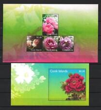 Iles Cook 2011 fleurs pivoines blocs neuf ** 1er choix