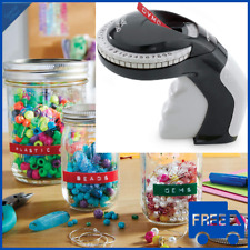 Embossing Label Maker With 3 Dymo Labeling Tapes Clicker Sticker Crafting New