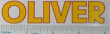 """4"""" DECAL for OLIVER Pedal Tractor Wagon, Yellow, Red Outline, Adhesive OP122"""