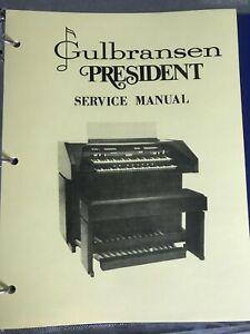 Gulbransen Organ President 4217-4116-4116W Service Manual