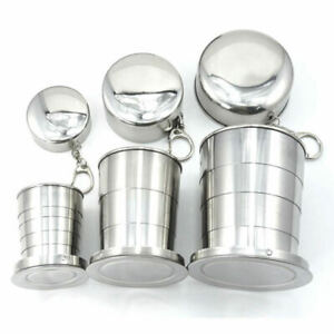 Stainless Steel Portable Folding Telescopic Collapsible Outdoor Travel Cup SXP