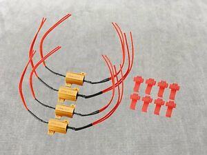 LED 25w resistor dash error canceler harness 1156 7506 BA15S Brake Light W1 JAE