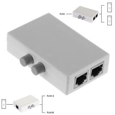 Mini 2 Port AB Manual Network Ethernet Switch Splitter Sharing Box 2In11In2 RJ45