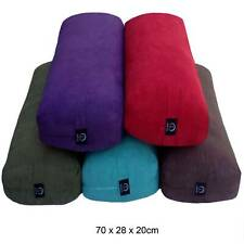 Eco Friendly Large Supportive Bamboo Suede Yoga Bolsters 70cm PP Cotton Filled