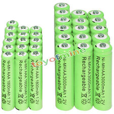 16 AA 3000mAh + 16 AAA 1800mAh battery Bulk Nickel Hydride Rechargeable 1.2V Gre