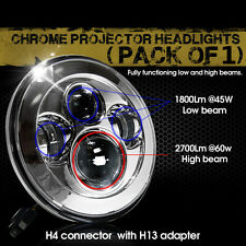 "7"" Crystal Headlight LED Projector Fit Honda Shadow VT VT1100 VT750 VT600 VF750"